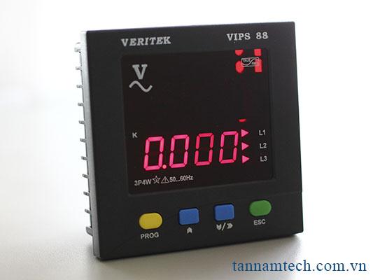 Đồng hồ đo điện áp ba pha Veritek - VIPS 88